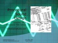 Procedural Sound Design - Video Game Audio
