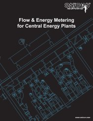 Flow & Energy Metering for Central Energy Plants - Onicon