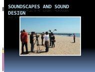 SOUNDSCAPES AND SOUND DESIGN - 160MC