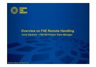Overview on F4E Remote Handling - Iter Industry