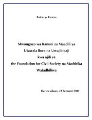 Mwongozo wa Kanuni za Maadili ya Utawala Bora na Uwajibikaji ...