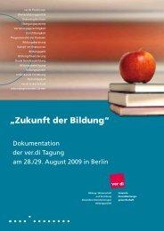 Broschüre Zukunft der Bildung - ver.di: Bildung, Wissenschaft und ...