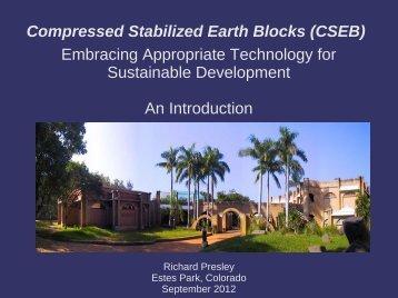 Richard's Presentation on Compressed Stabilized Earth Blocks