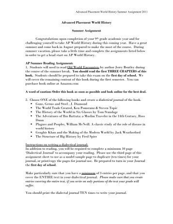 ap summer readings Ap summer assignments » ap summer reading for all students ap summer  reading for all students ap summer reading 2015 packet home ap stats.