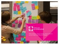 Skills building in design strategy, design research ... - UX Intensive
