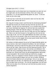 De Bijbel open 2013 2 (12-01) Vandaag nemen we de draad weer ...