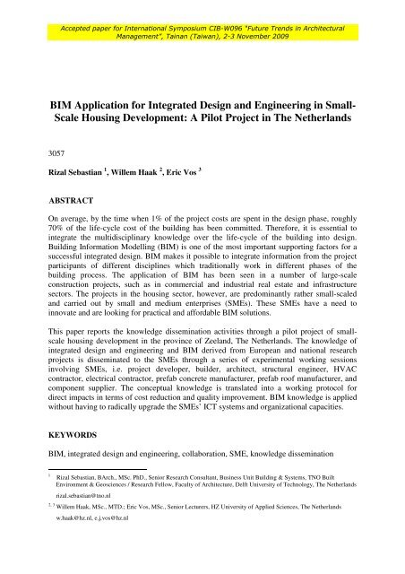Bim Application For Integrated Design And Engineering In Small Inpro
