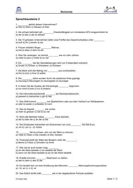 Sprachbausteine 2