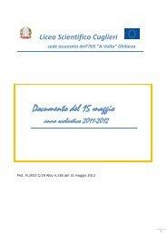 Documento 15 maggio VA Liceo scientifico Cuglieri - Isisghilarza.it