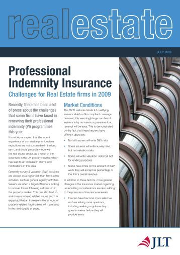 Indemnity Insurance: Indemnity Insurance Real Estate