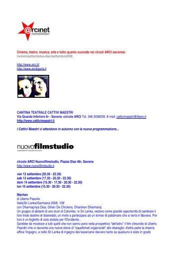 Cinema, teatro, musica, arte e tutto quanto ... - truciolisavonesi