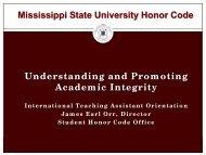 Honor Code - Mississippi State University