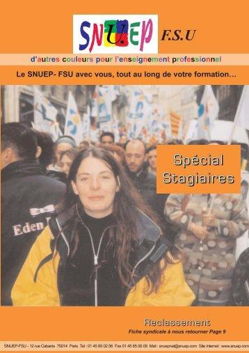 F.S.U Spécial Stagiaires - Le Snuep