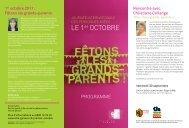 programme du 1er octobre 2011 - Ville de Genève