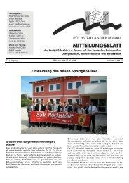 Einweihung des neuen Sportgebäudes - Verwaltungsgemeinschaft ...