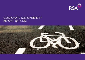 2011 Corporate Responsibility Report - Royal and Sun Alliance