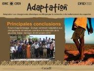 Principales conclusions - Africa Adapt