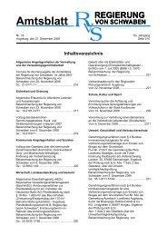 Amtsblatt - Regierung von Schwaben - Bayern