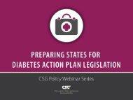 diabetes action plan legislation - CSG Knowledge Center