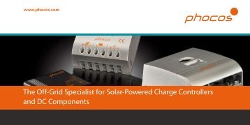 The Off-Grid Specialist for Solar-Powered Charge ... - Phocos.com
