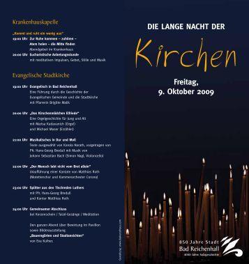 DiE LAnGE nAchT DER Freitag, 9. Oktober 2009 - 850 Jahre Stadt ...