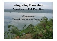 Integrating Ecosystem Services in EIA Practice - Institute of ...