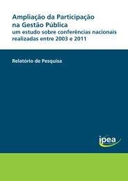 Confira o relatório - Ipea