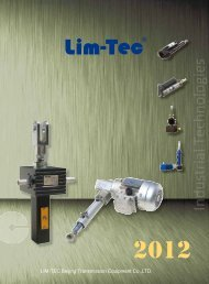 Catalog LIM-TEC Beijing Transmission Equipment - Industrial ...