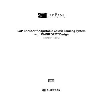 LAP-BAND AP™ Adjustable Gastric Banding System with - Allergan