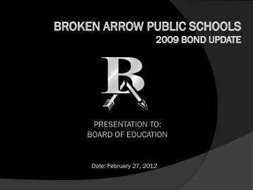 Projects Completed - Broken Arrow Public Schools