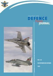 ISSUE 163 : Nov/Dec - 2003 - Australian Defence Force Journal