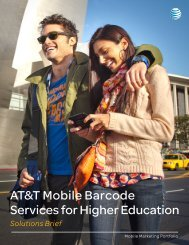 AT&T Mobile Barcode Services for Higher Education