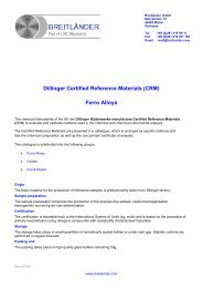 Dillinger Certified Reference Materials (CRM) - Andreescu Labor ...