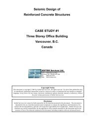 Seismic Design of Reinforced Concrete Structures CASE STUDY #1 ...