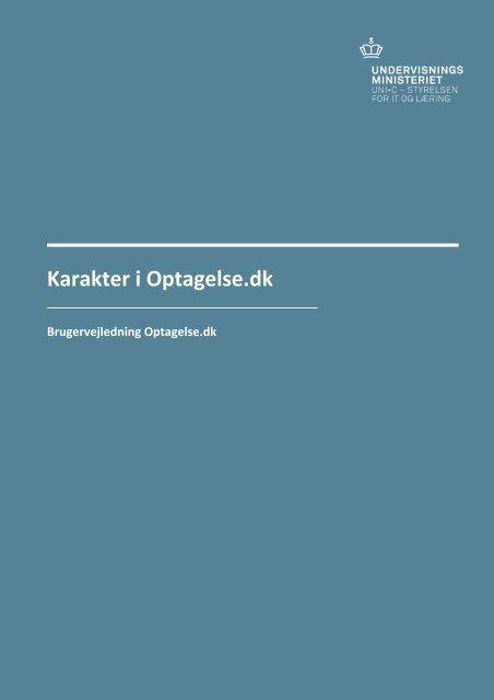 vejledningen til håndtering af karakterer - Optagelse.dk