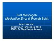 Kiat Mencegah Medication Error di Rumah Sakit - Manajemen ...