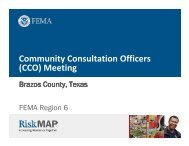 Community Consultation Officers (CCO) Meeting - RiskMAP6