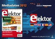 Elektor-Mediadaten 2012 - Verlagsbüro ID Gmbh & Co. KG
