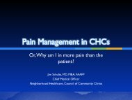 Pain Management in CHCs - Community Clinic Association of Los ...