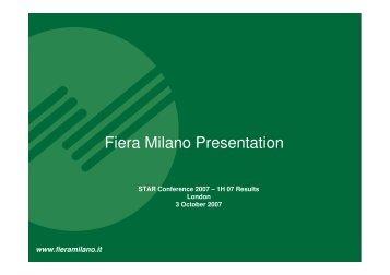 Fiera Milano Presentation