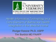 Health Information Technology as a Core Element of Behavioral ...