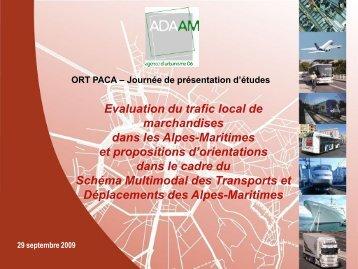 déplacements de marchandises - ORT PACA