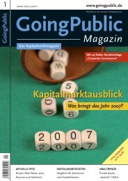 Magazin Kapitalmarktausblick