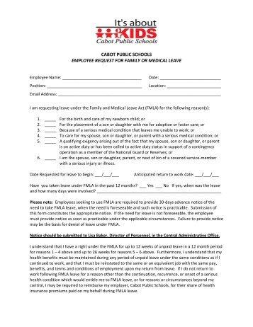 Fmla Employee Request Form   King William County Public Schools