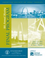 FINAL PROGR AM - American Society of Gene & Cell Therapy