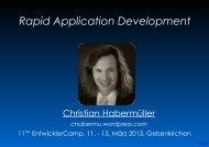 Rapid Application Development - EntwicklerCamp