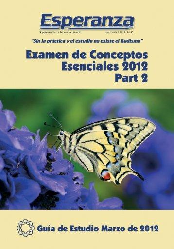 Examen de Conceptos Esenciales, año 2012, Parte 2 - SGI-USA
