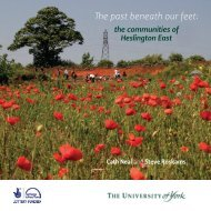 The past beneath our feet (PDF , 4557kb) - University of York
