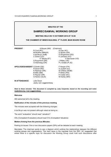 SAMREC/SAMVAL WORKING GROUP - SAMCODE