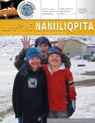 Naniiliqpita Magazine – Fall 2005 - Nunavut Tunngavik Inc.